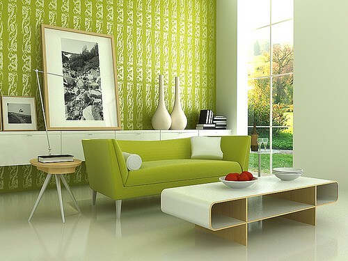 Amazing-Stylish-Modern-Green-Living-Room-Interior-Design